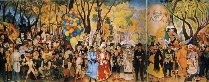 Diego Rivera - Sueño de una tarde de Domingo en la Alameda: Ap Spanish, Alameda Parks, Murals Diego, Parks 1948, Mexico Cities, Mexico City, Parks Jpg, Rivera Murals, Museo Murals