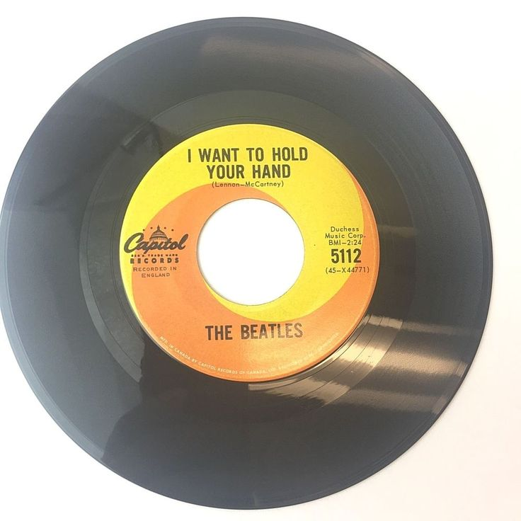 Beatles 45 1964 I Want to Hold Your Hand Saw Her Standing Rare Capitol 5112 CAN #Variation