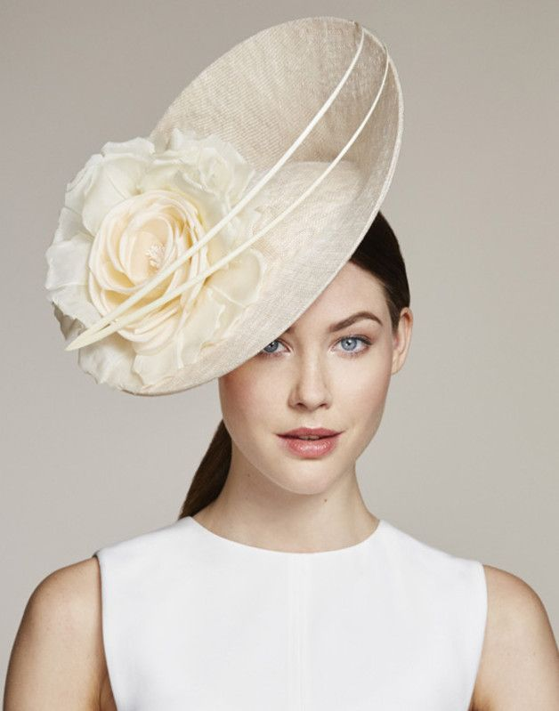 FARFALLA Sinnamay Hat With Bow Color-Ivory toehi6mCy