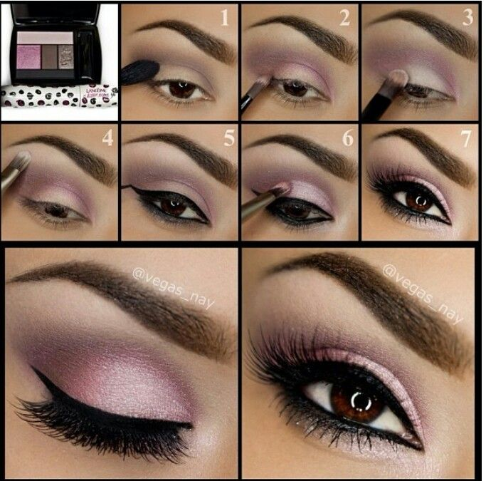 This beautiful look was created by MUA vegas nay using lancome rose couquette shadow and liner palette.