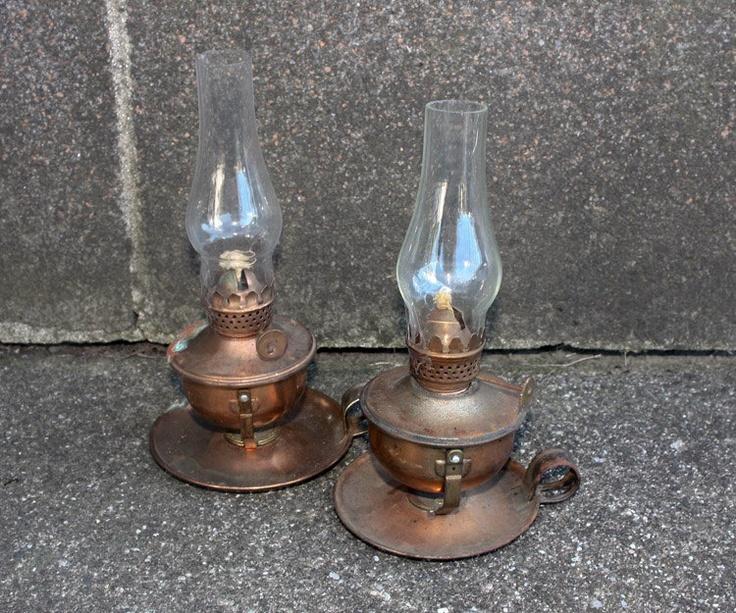 Amazing Antique Oil Lamps (Set of 2). $12.00, via Etsy.