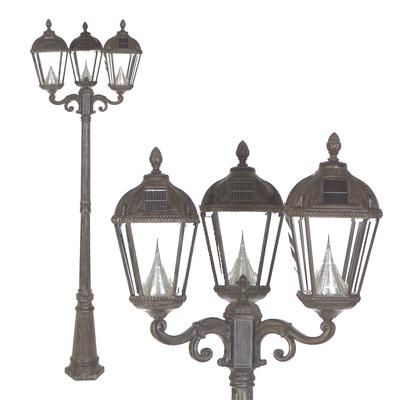 Gama Sonic   Royal Solar Lamp Post, Triple Lamp, Weathered Bronze   GS  ·  Solar Lamp PostSolar PowerOutdoor LightingHome DepotBronze