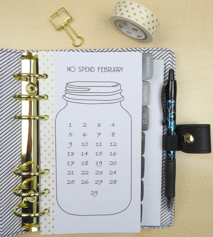 Eine süße Kalender Idee - für dein Notizbuch