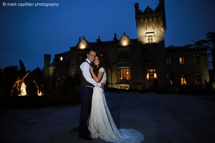Bride & groom at night portrait wedding photographer donegal