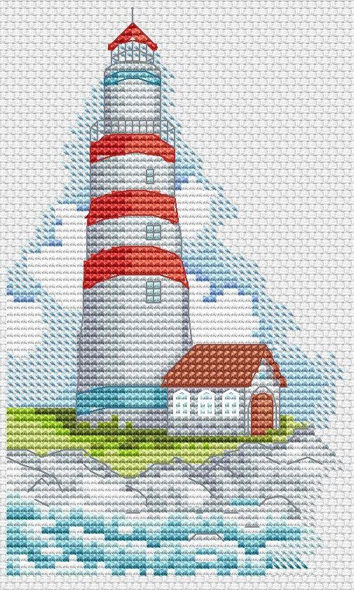 Схема вышивки маяк от