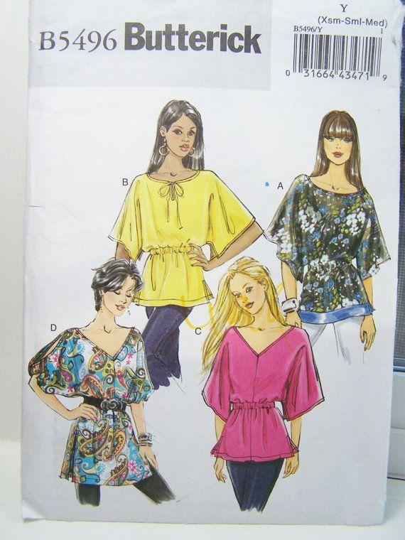 Butterick B5496 Sewing Pattern   Women's Boho by WitsEndDesign