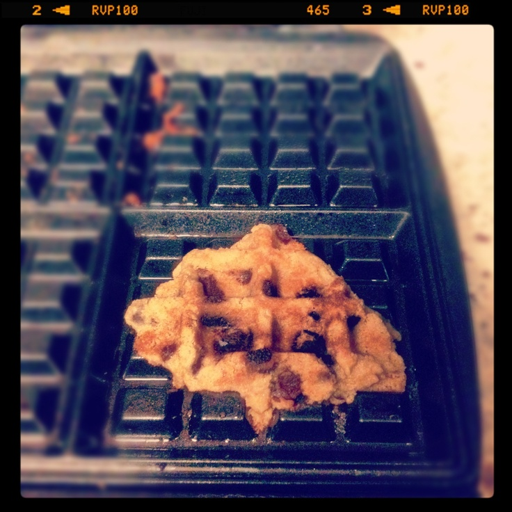Cookie dough + waffle iron = cookies in 90 seconds