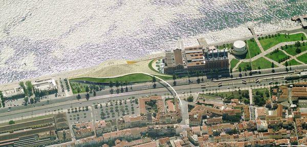 Lisbon, Portugal, Amanda Levete Architects, ceramic tiles, calcada, The EDP Foundation Arts & Technology Center, Belém, waterfront