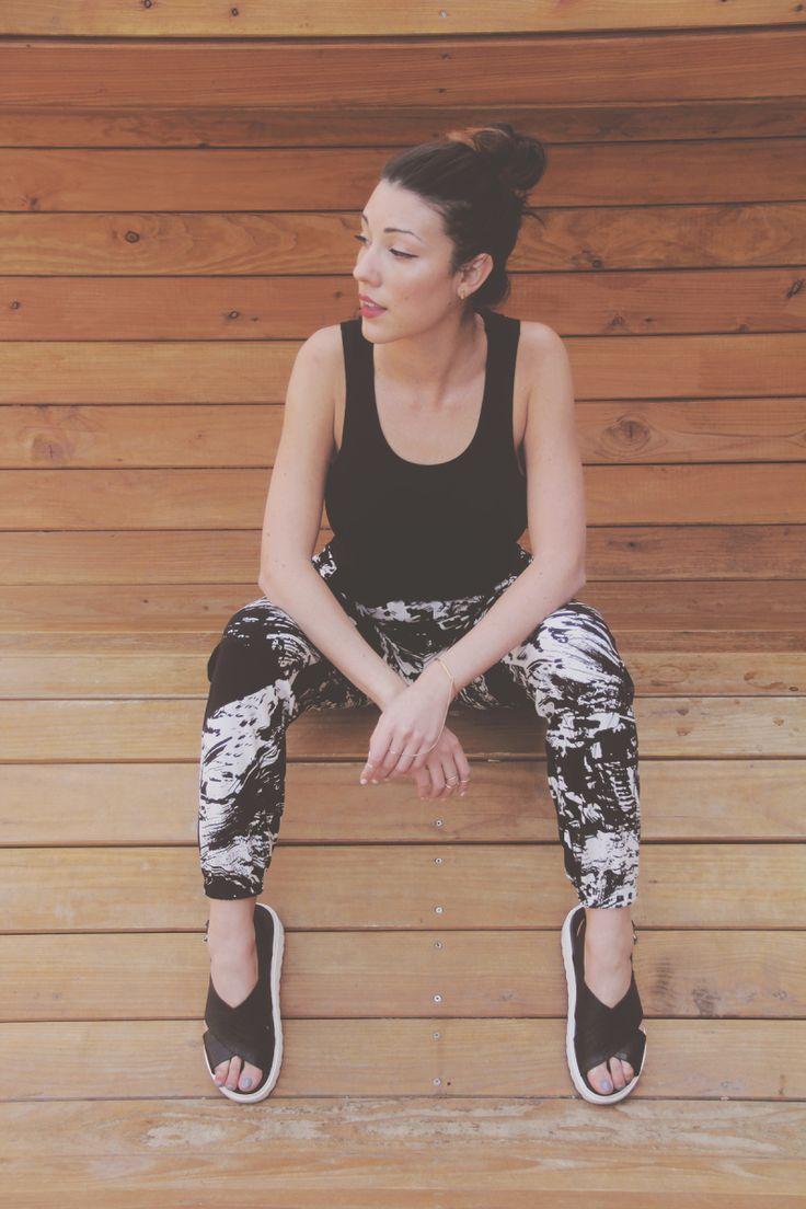 Danika Maia in the Dana Scratch Print Soft Joggers