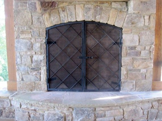 custom made hand forged steel fireplace screens by stoneandsteel