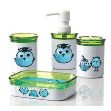 Owl Bathroom Accessory Set Pinned By Www.myowlbarn.com