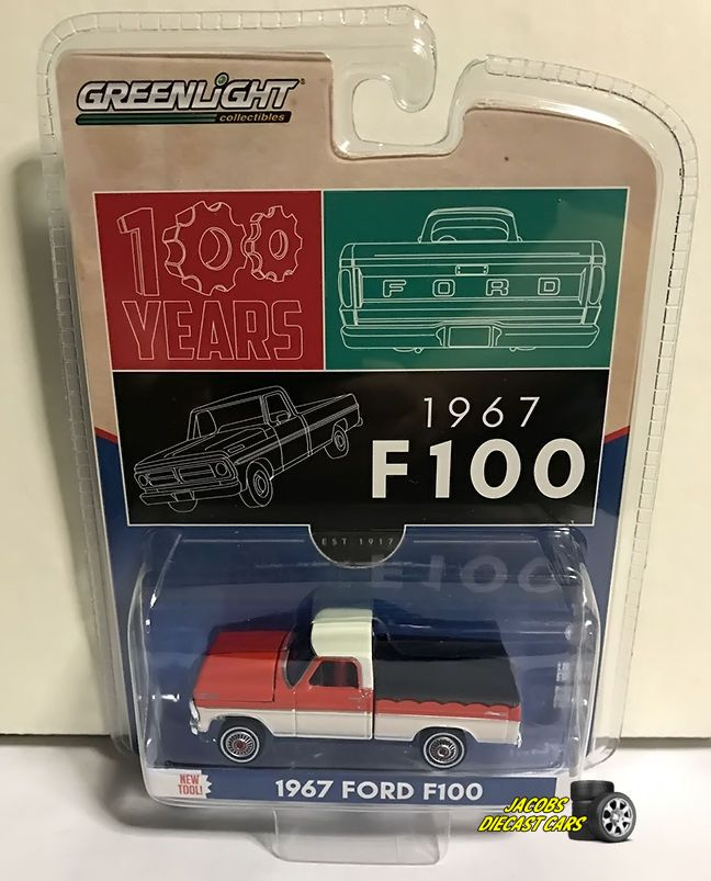 1967 FORD F-100 PICKUP TRUCK W/ BED COVER HOBBY EXCLUSIVE 1/64 GREENLIGHT 29862 #GreenLight #Ford
