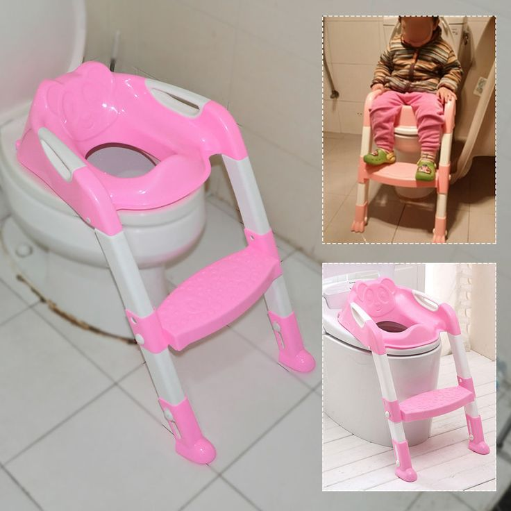 Pink Baby Kid Toddler Potty Training Toilet Safety Seat Step Adjustable Ladder in Baby, Potty Training   eBay