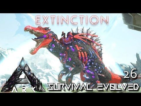 awesome ARK: EXTINCTION - CORRUPTED SPINO TAMING & BREEDING