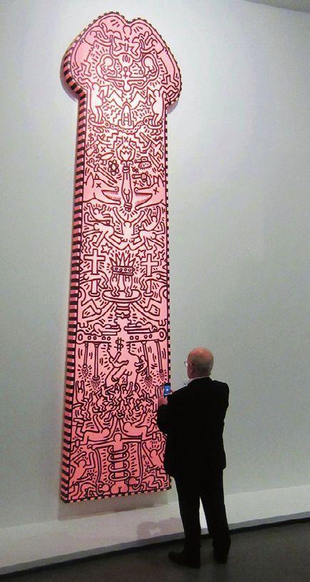Une oeuvre de Keith Haring exposée au musée d'Art moderne de Paris.