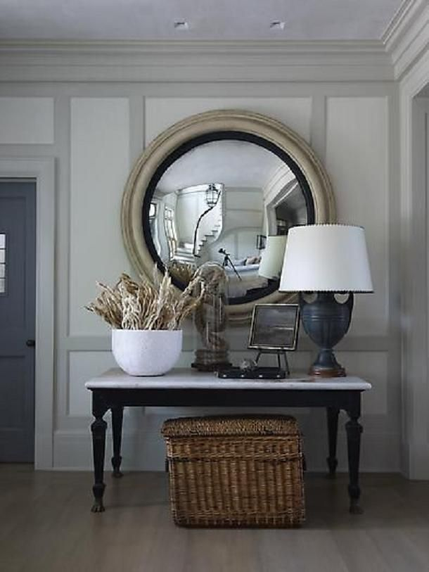 Steven Gambrel . http://www.drivenbydecor.com/2012/11/in-search-of-perfect-round-mirror.html