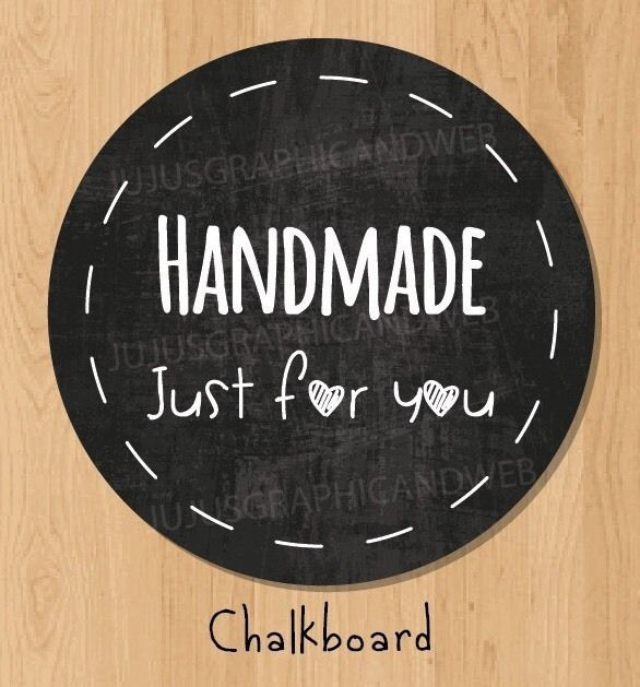 "24 ""Hand Made Just for You"" Stickers Labels Packaging Labels 1 67"" Glossy 