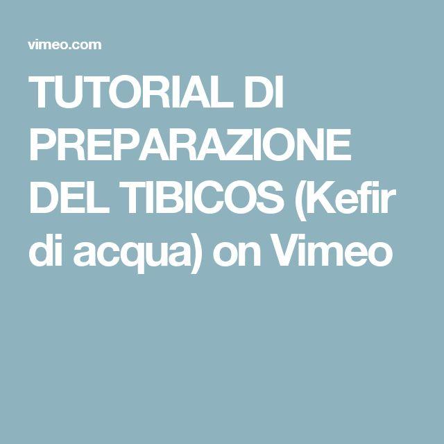 TUTORIAL DI PREPARAZIONE DEL TIBICOS (Kefir di acqua) on Vimeo