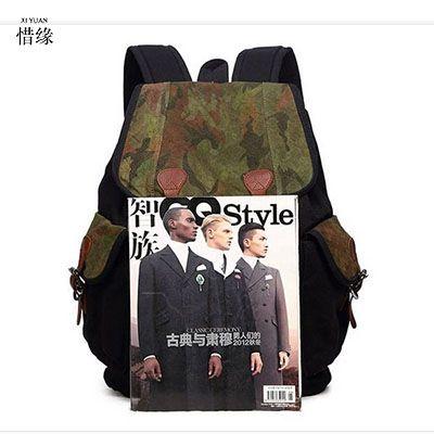 XI YUAN Backpack Men Preppy Style Camo School Backpacks for Boy Girl Teenagers High School Middle School Bags Large Capacity