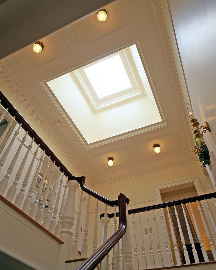 Grand Foyer W Skylight Skylight Staircase Design