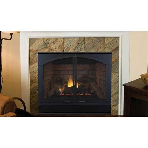 """Superior Fireplaces EDV45RNE Elite 45"""" Black Interior Electronic Ignition Direct Vent Fireplace"""