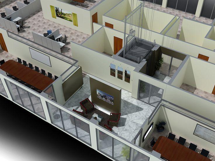 3d Office Floor Plan Wallpaper 3d Office Floor Plan