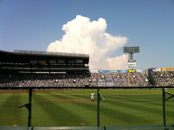 甲子園の雲