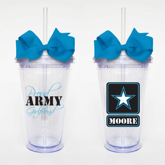 Proud Army Girlfriend Acrylic Tumbler by SweetSipsters on Etsy