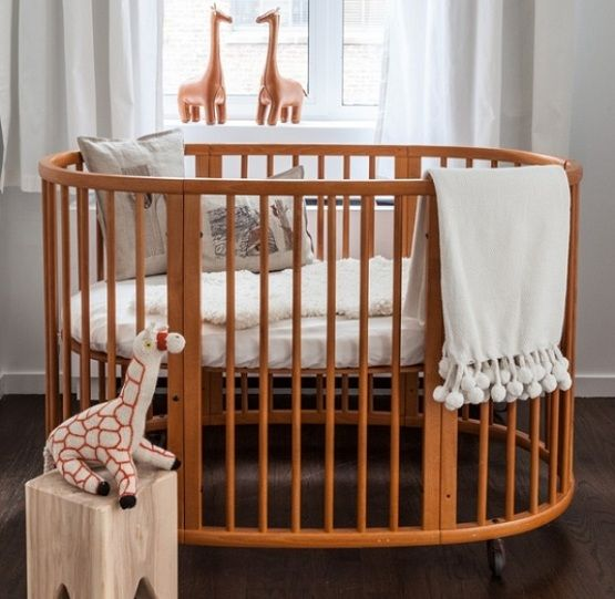 Affordable round baby crib designs