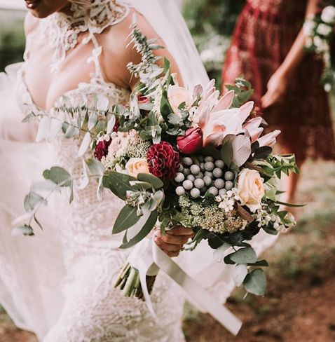 Beautiful Blooms / our stunning bride Brigitte wearing custom Rose Zurzolo Couture