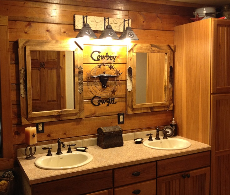 100 best Country Western Decor images on Pinterest Country - western bathroom ideas