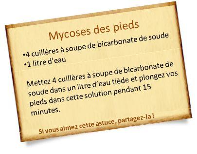 mycose peau bicarbonate de soude
