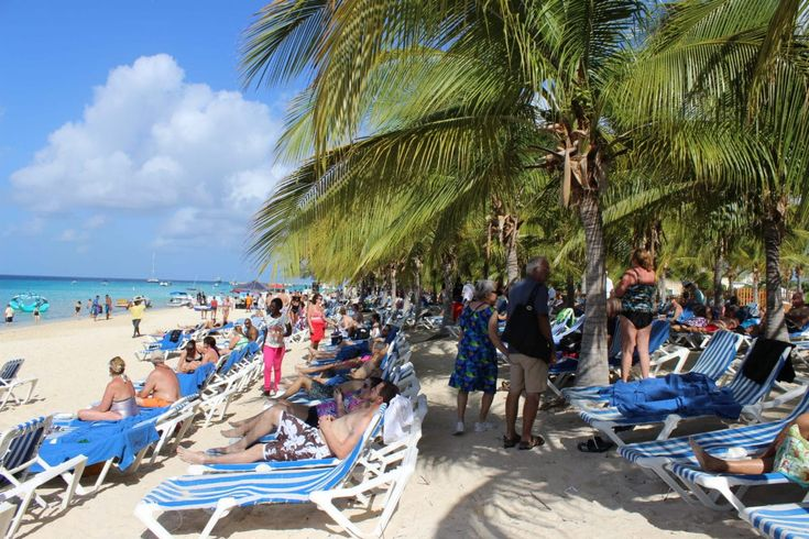The view stepping onto the beach of Grand Turk.