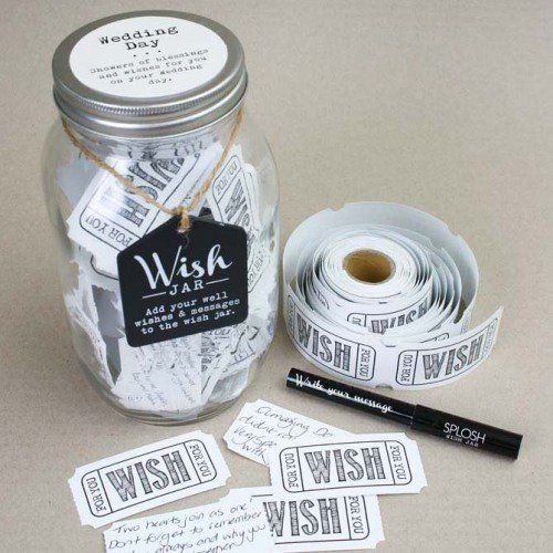 Give the bride and groom your best wishes on their special day, with this wedding wish jar.