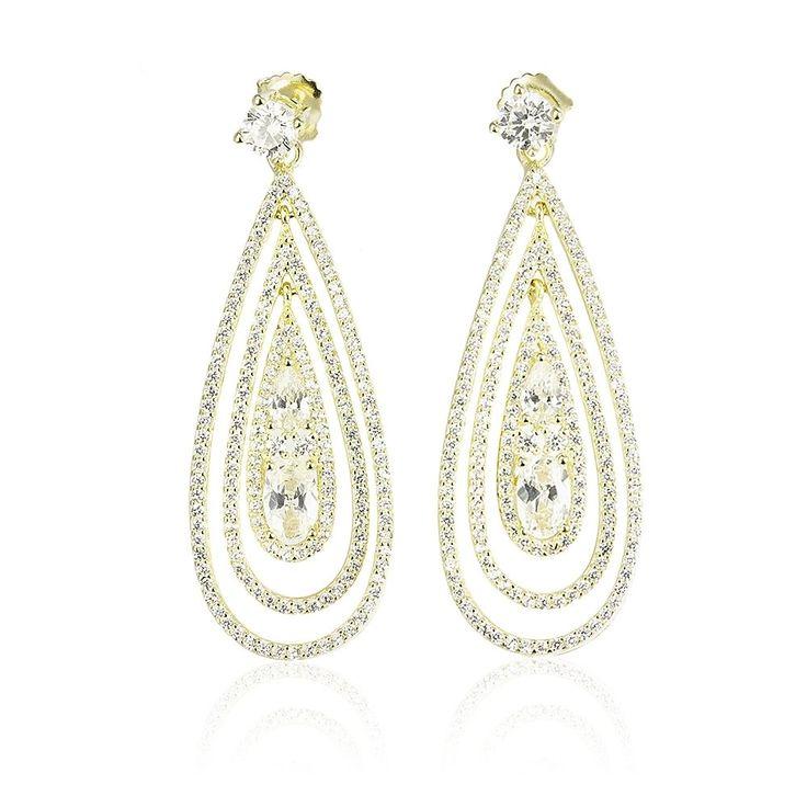 Cercei argint Surub Drop Earrings Zirconii Cod TRSE063 Check more at https://www.corelle.ro/produse/bijuterii/cercei-argint/cercei-placati-cu-aur/cercei-argint-surub-drop-earrings-zirconii-cod-trse063/