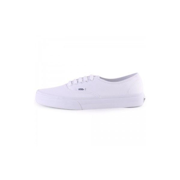 Vans Authentic L White White Womens Trainers ($56) ❤ liked on Polyvore featuring shoes, sneakers, vans footwear, white shoes, white sneakers, vans shoes and vans trainers