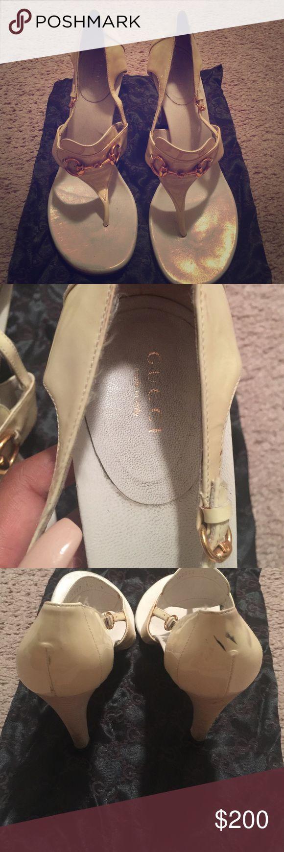 Gucci shoes Gucci, size 10, ivory sandals Gucci Shoes Sandals