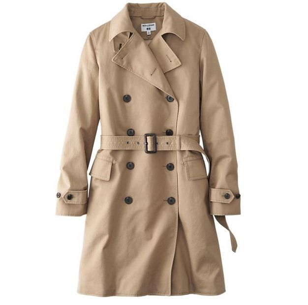 (유니클로) 트렌치코트 WOMEN IDLF TRENCH COAT                                    This trench coat features qua...