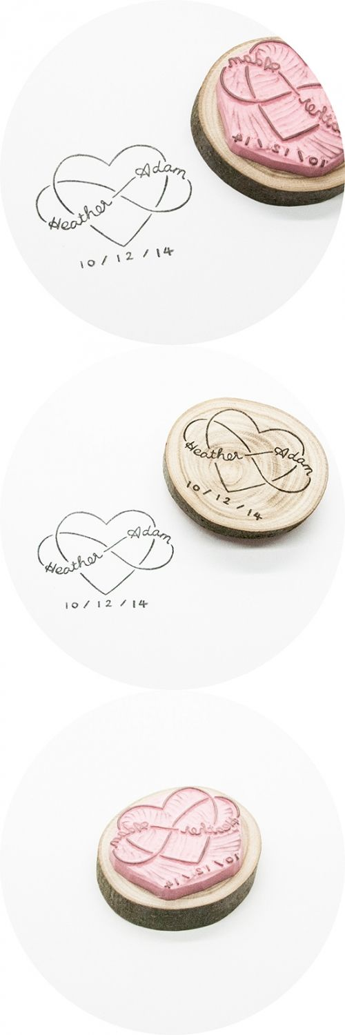 A perfect, hand-crafted stamp for your special day. Your names will be incorporated in an original love and infinity loop design, and you have the option to leave out the date underneath - and get a stamp even more versatile for after your wedding.  ...