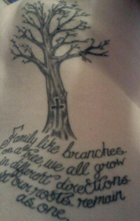 """family like branches on a tree we all grow in different directions yet our roots remain as one"""