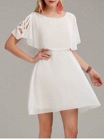 GET $50 NOW | Join RoseGal: Get YOUR $50 NOW!http://www.rosegal.com/chiffon-dresses/ruffle-overlay-chiffon-cold-shoulder-1177730.html?seid=9320315rg1177730