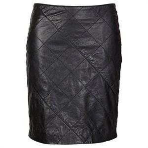Sort skind nederdel fra Soaked in Luxury - Busyskirt