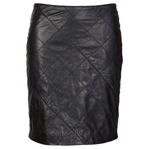 Sort skind nederdel fra Soaked in Luxury - Busyskirt