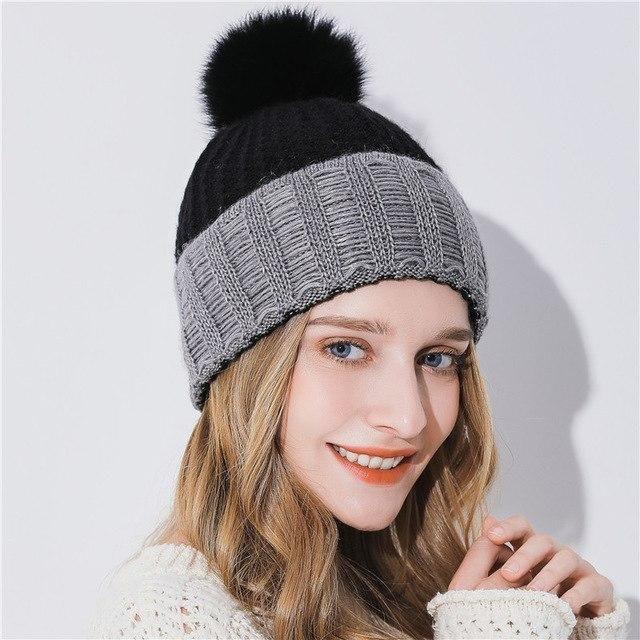 2f7444517ae Purple Relic  Pom Pom Beanies ~ Women Winter Hat
