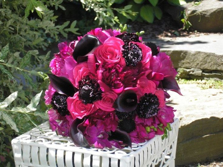 wedding flowers and bouquets 95 best black n pink wedding images on pink 9528