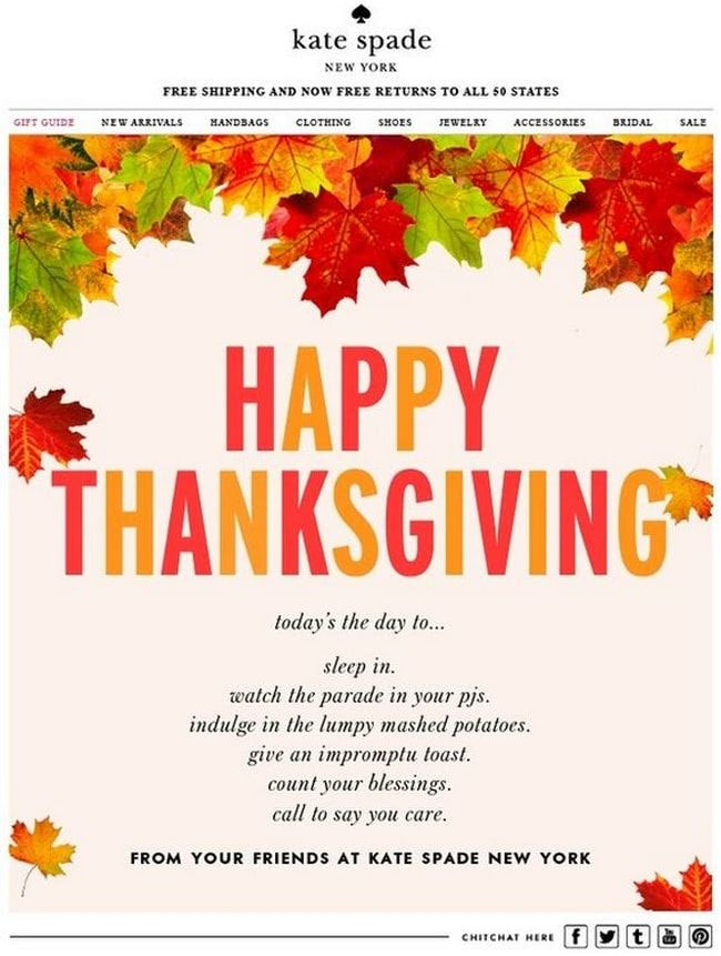 Best Practices For Thanksgiving Email Newsletters With Examples Designmodo Thanksgiving Design Happy Thanksgiving Friends Holiday Marketing Campaigns