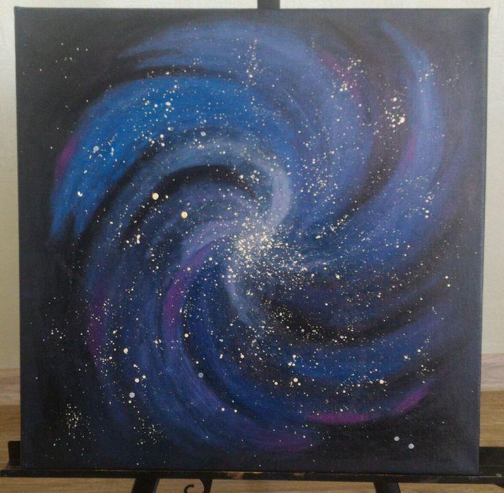 Картина абстракция живопись холст масло галактика небо вселенная звезды арт искусство Painting abstract oil on canvas sky universe galaxy star art