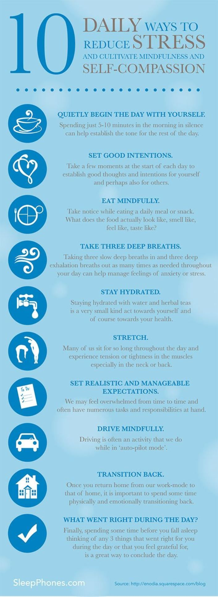 Top tips to staying stress free in the workplace infographic - 10 Daily Ways To Reduce Stress Daily Tips Found This Helpful Infographic On