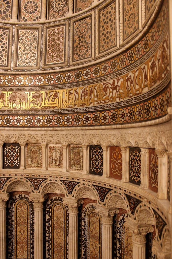 Detail of the main mihrab, Ummayad Mosque, Damascus   Flickr - Photo Sharing!