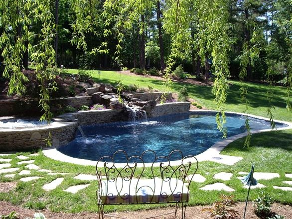 Best 192 Small Outdoor Garden Pool Images On Pinterest Other Small Yards Endless Pools And
